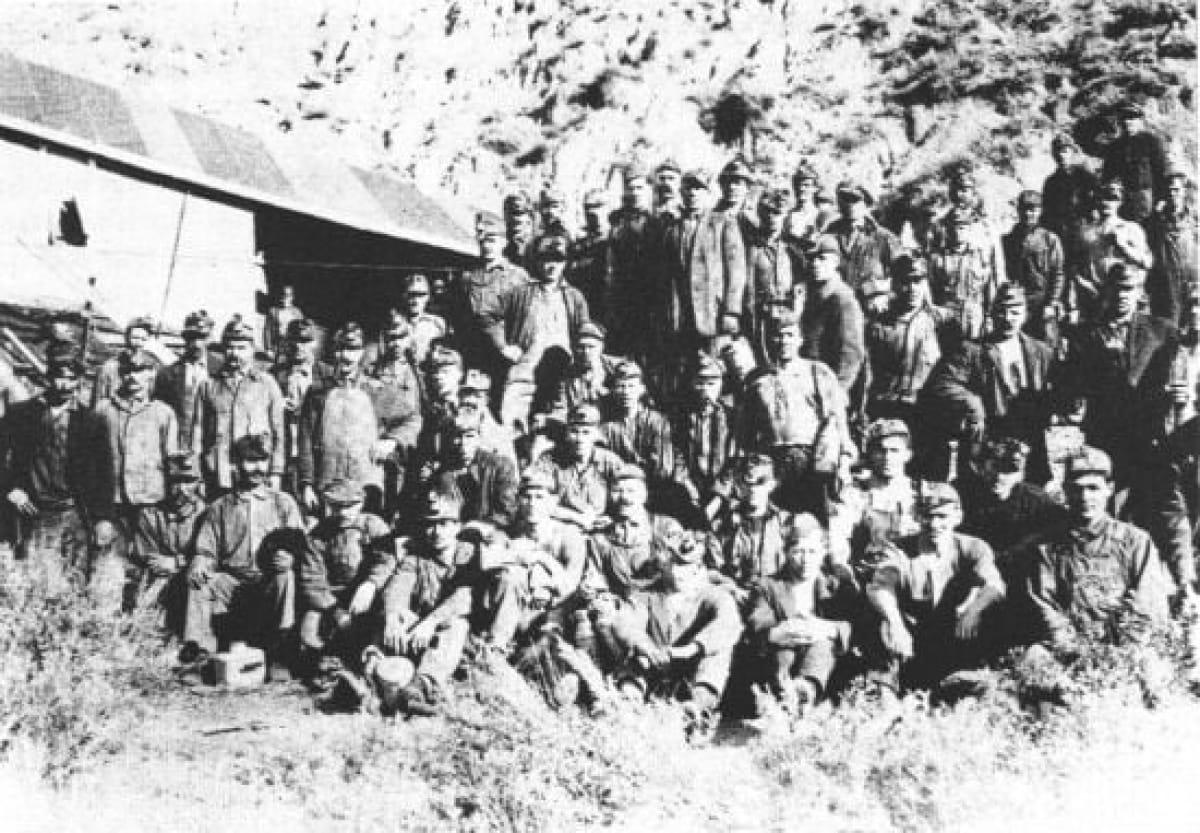 Группа украинских углекопов в Канаде. 1904 г.