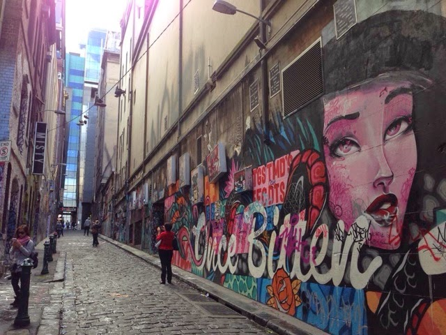cbd melbourne australia grafitti
