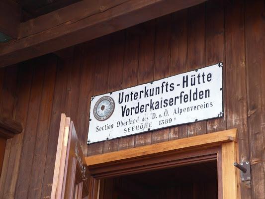 Vorderkaiserfelden Hut