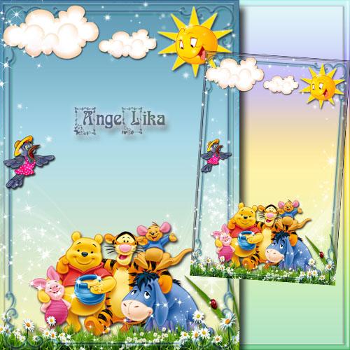 Детская рамка для фото с героями мультфильмов - Дружная компания
