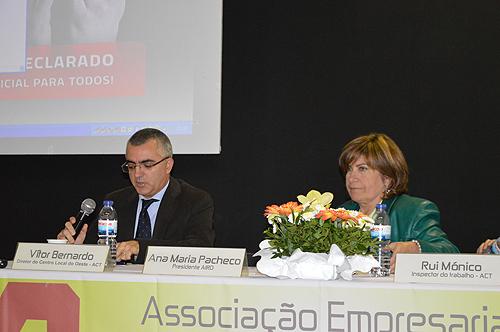 Vitor Bernardo, diretor do Centro Local do Oeste da ACT, e Ana Maria Pacheco, presidente da AIRO