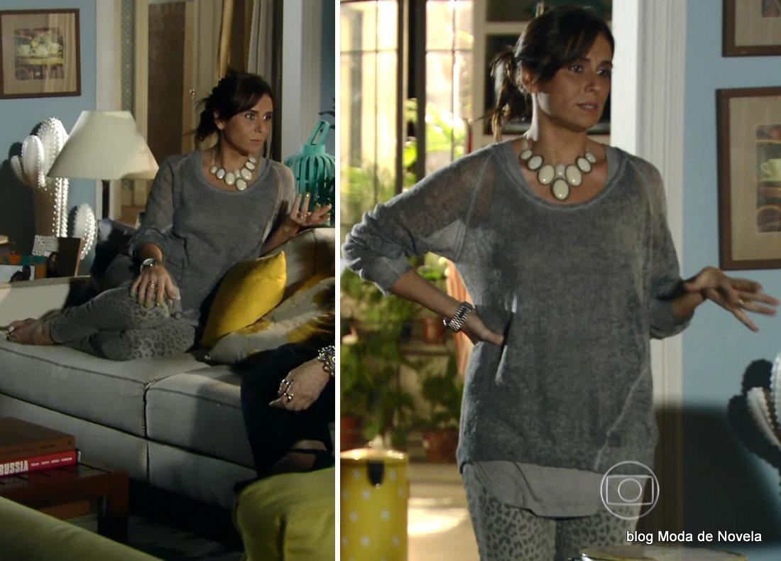 moda da novela Em Família - look da Clara dia 28 de maio