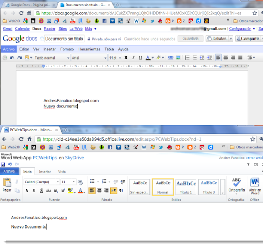 Google Docs vs MS Office Web Apps
