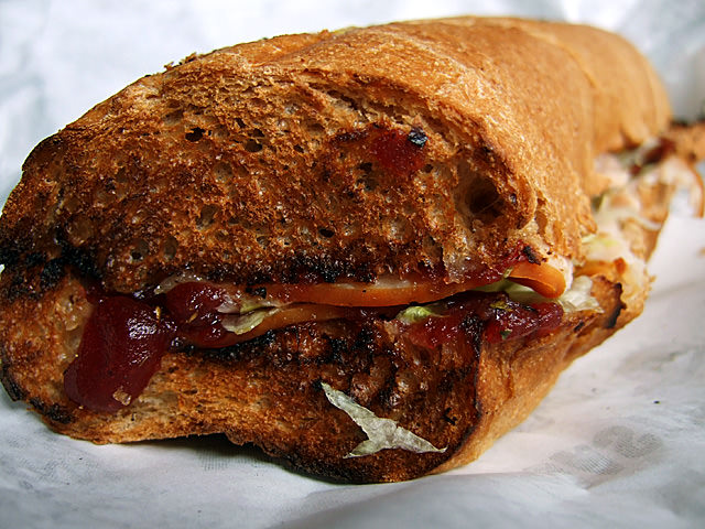 Turkey cranberry sub from Quiznos