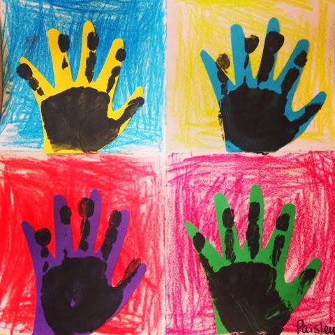 Tiny Hands Art Andy Warhol Hand