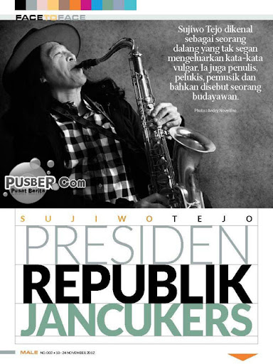 Sujiwo Tedjo Presiden Republik Jancukers, Majalah MALE Sujiwo Tedjo
