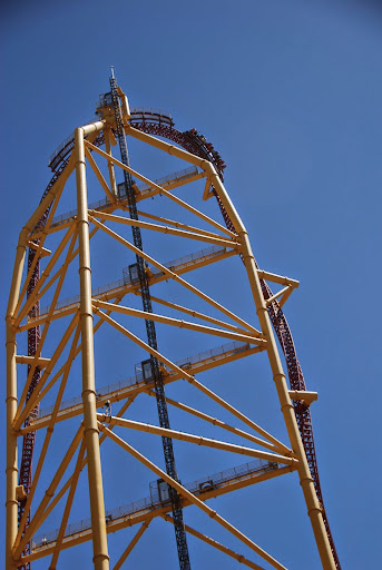 Top Thrill Dragster - 0-120mph in 4 seconds! From The Complete Guide to Visiting Cedar Point