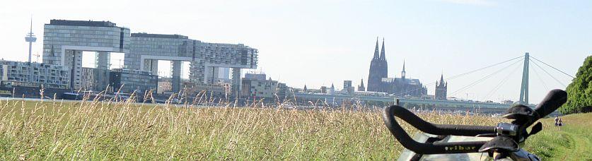 Skyline von Köln: rechtsrheinisch gesehen