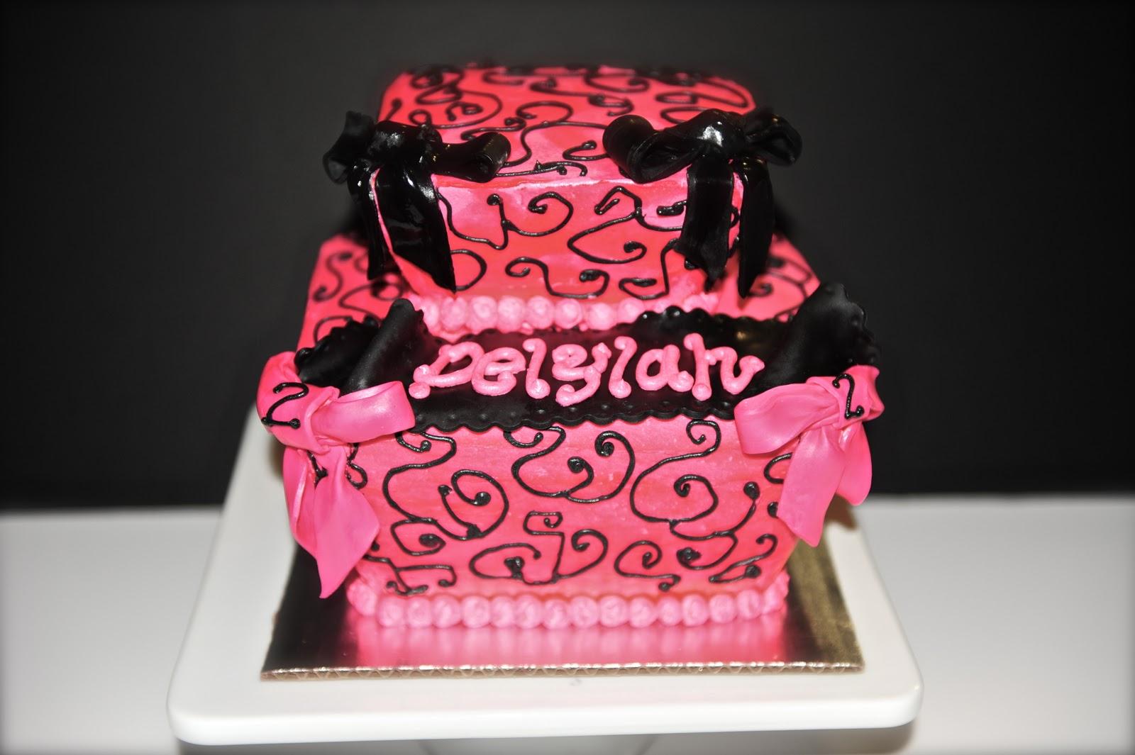Leahs Sweet Treats Parisian Birthday Cake