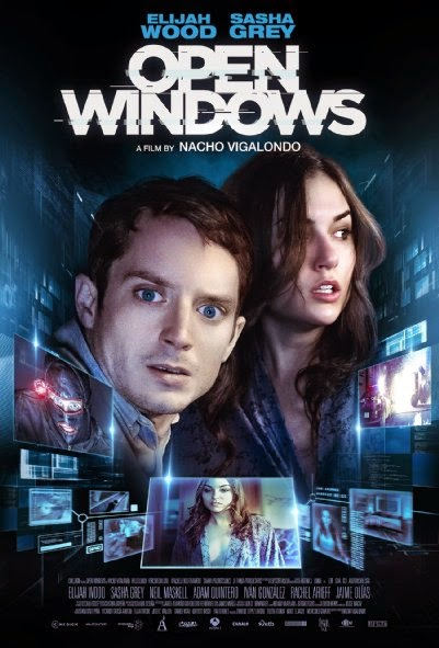 Poster Of English Movie Open Windows (2014) Free Download Full New Hollywood Movie Watch Online At Alldownloads4u.Com