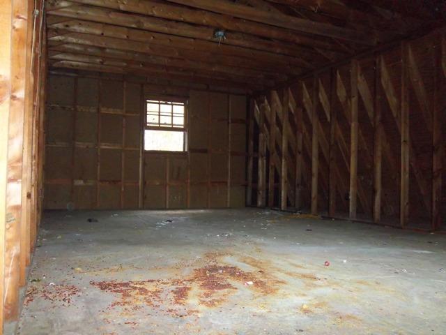 Upper floor of barn.