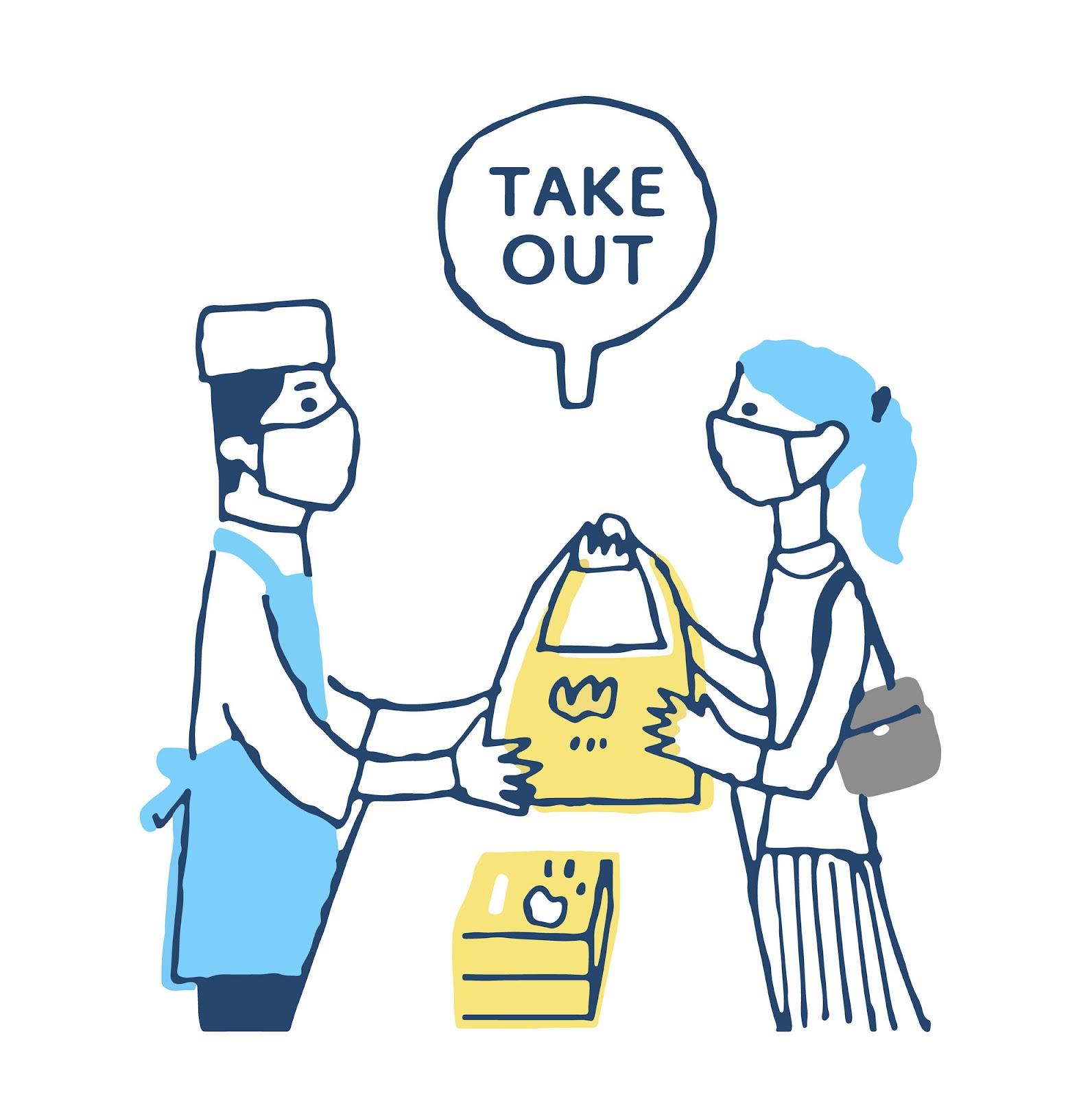 Shopifyでテイクアウト(お取り置きサービス)を実現する方法。テイクアウトのイメージ。