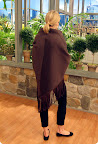 Leather Fringed Wool Wrap