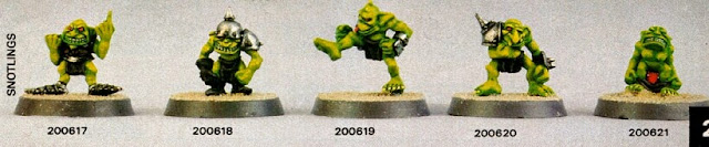 Snotlings Blood Bowl 2a edición