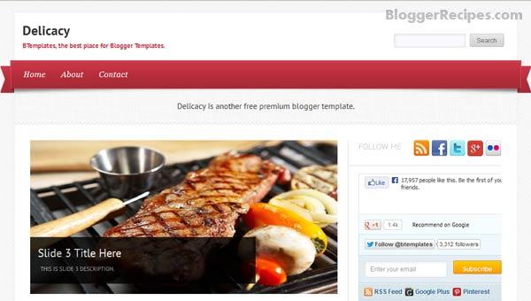 Delicacy Blogger Template