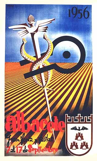 Cartel Feria Albacete 1956