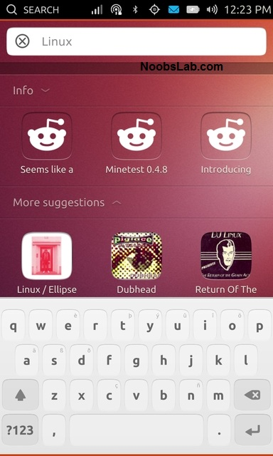 Ubuntu Touch search