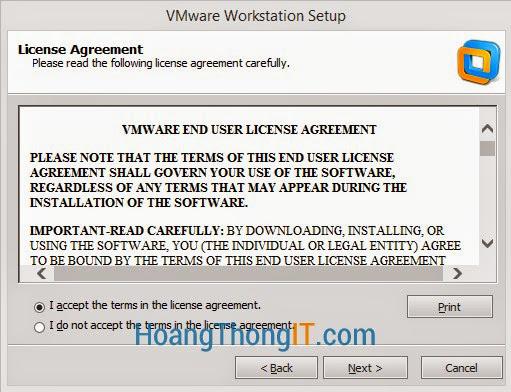 cài đặt và sử dụng phần mềm vmware