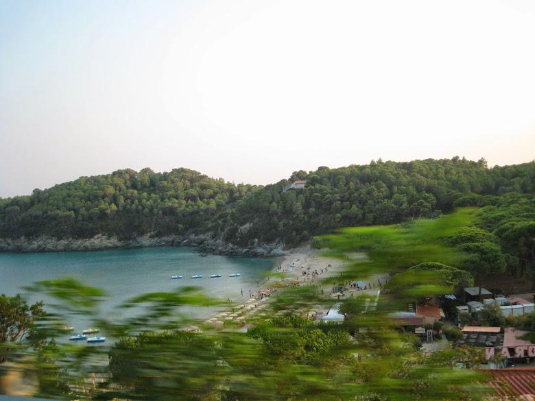 The cove of Fetovaia beach