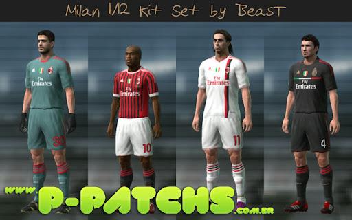 Milan 11-12 Kitset para PES 2011 PES 2011 download P-Patchs