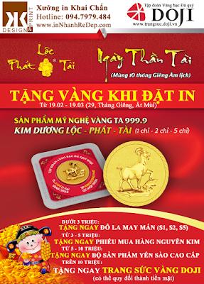 Tặng vàng khi in ấn tại xưởng in Khai Chấn, số lượng có hạn, liên hệ ngay: 0947979484 http://www.innhanhredep.com/home/van-khan-khai-truong-dau-nam/loc-than-tai-khai-xuan-moi