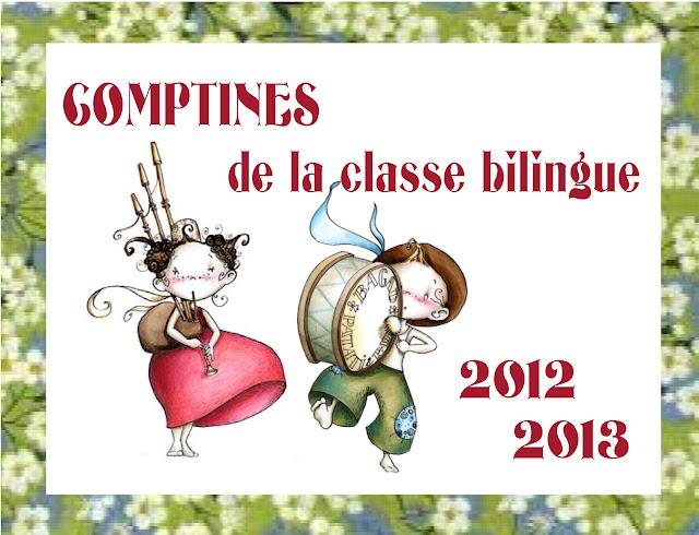 comptines de la classe bilingue
