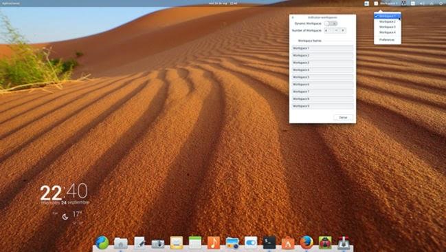 elementary OS 0.3 Workspace Indicator