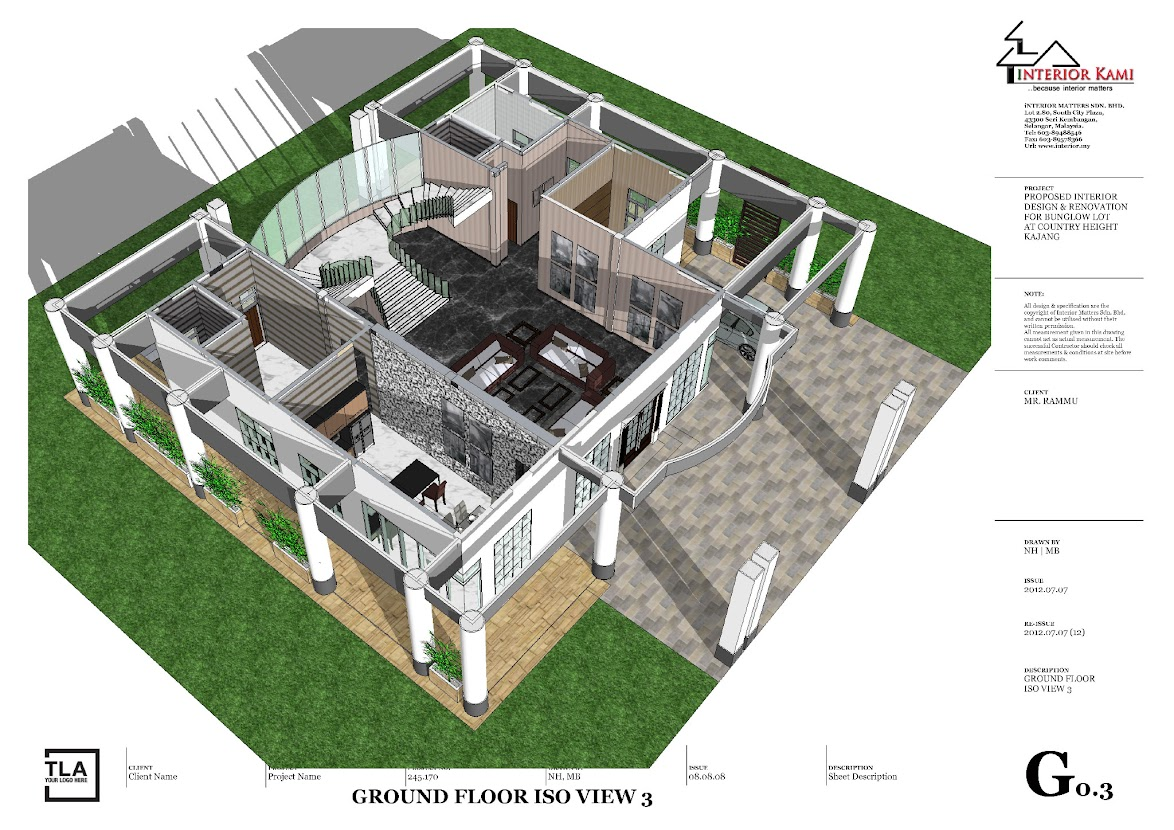 3d layout bunglow at country height