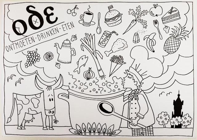 De Fruitfabriek Kleurplaat Voor Restaurant Ode Elst