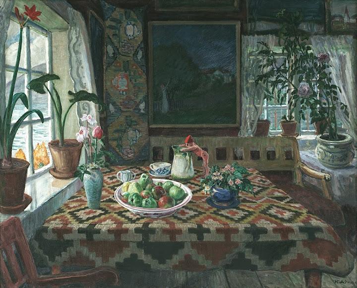 Nikolai Astrup - Interior, Jølster Vicarage
