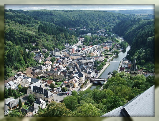 Aerial view of Vianden