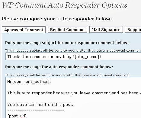 comment auto responder