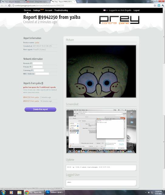 Prey report screenshot