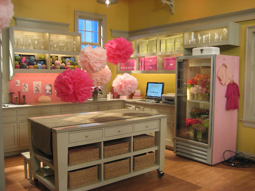 The Craft Area dressed for the Pink Show!