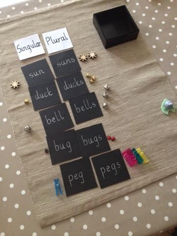 Bodhi Tree Nursery Montessori Singular Plural Literacy Box