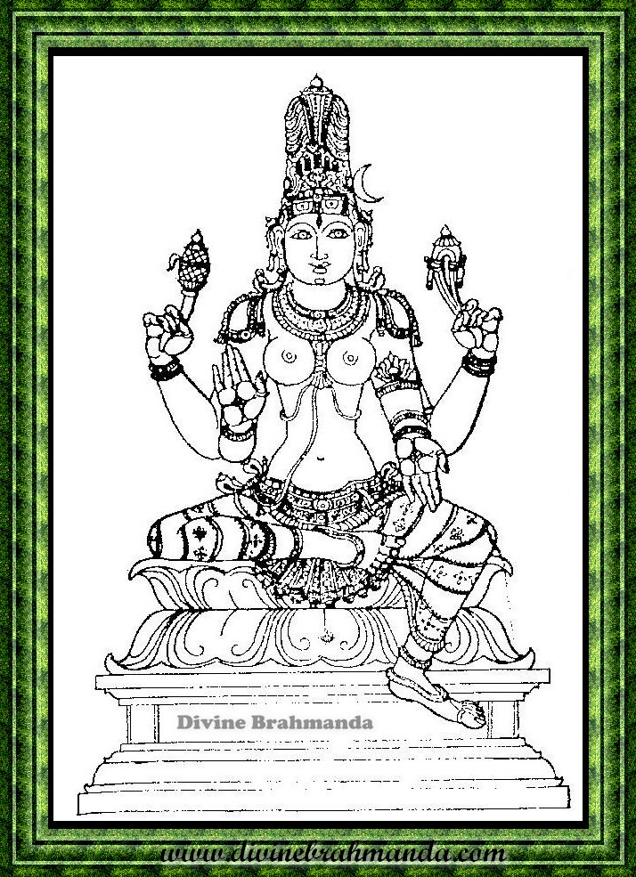 Soundarya Lahari Sloka, Yantra & Goddess For Incurable Deseases To Be Cured - 24