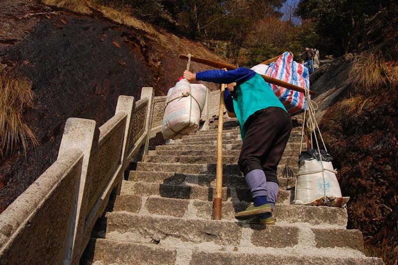 Pekerja pemikul barang Huangshan