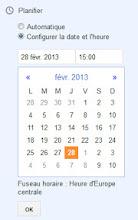 Configurer la date de publication de l'article