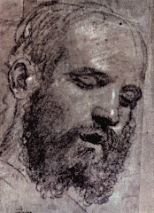 LOTTO, Lorenzo Head of a bearded man, first half of the 16th century