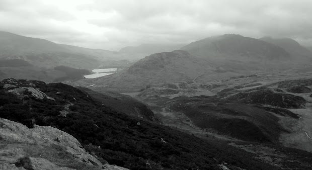 Tryfan and Glyders from Craig Wen