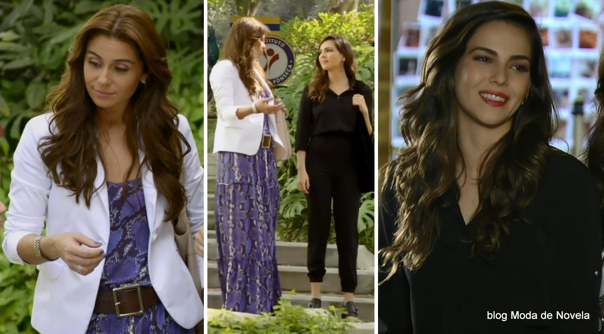 moda da novela Em Família - looks de Clara e Marina dia 4 de julho