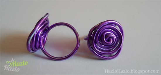 Cómo hacer un anillo con alambre.