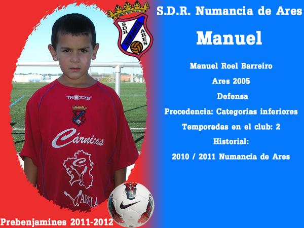 ADR Numancia de Ares. Prebenxamíns 2011-2012. MANUEL.