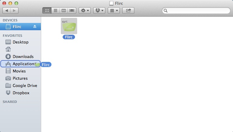 Installing Flirc GUI on Mac – Flirc