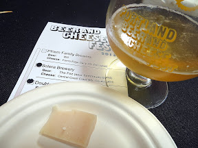 Portland Beer and Cheese Festival, beer and cheese pairing, The Commons Berwery, Steve's Cheese, Solera Brewery The Fez sour farmhouse blend, paired with Central Coast Creamery Goat Gouda, goat, California