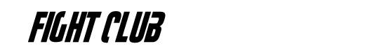 Fightthis font logo Fight Club Clube da Luta