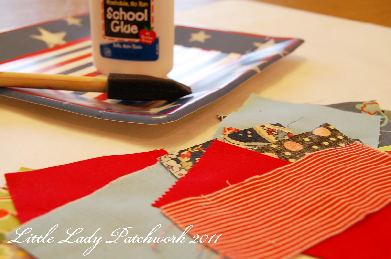 little lady patchwork mini fabric mosaic. Black Bedroom Furniture Sets. Home Design Ideas
