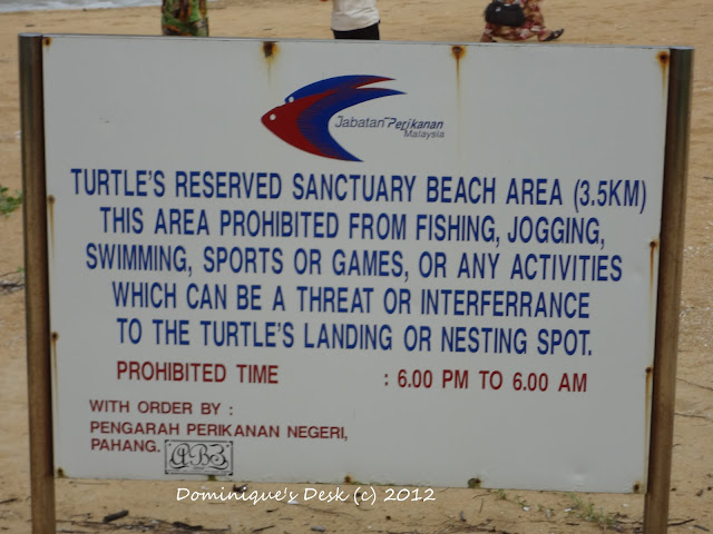 Sign on the beach