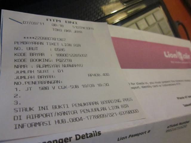 Pesan Tiket Lion Air Dengan Atm Wahyualam Com