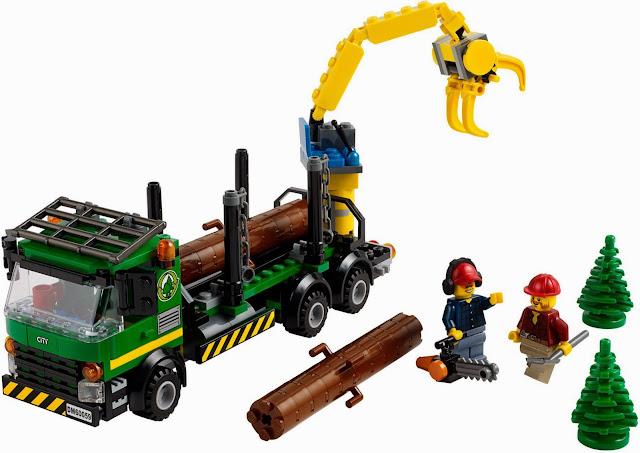 Bộ xếp hình Lego 60059 Logging Truck sống động đẹp mắt